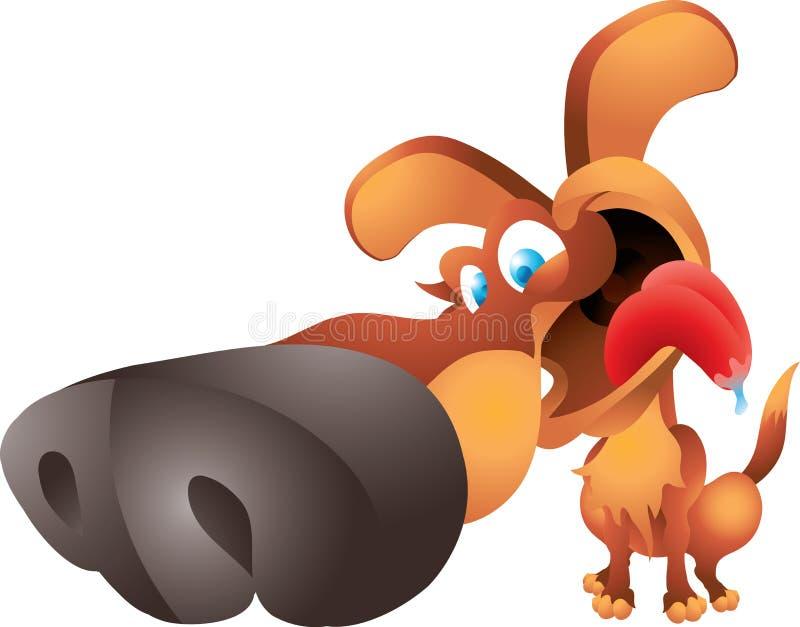 Cão grande do nariz ilustração royalty free