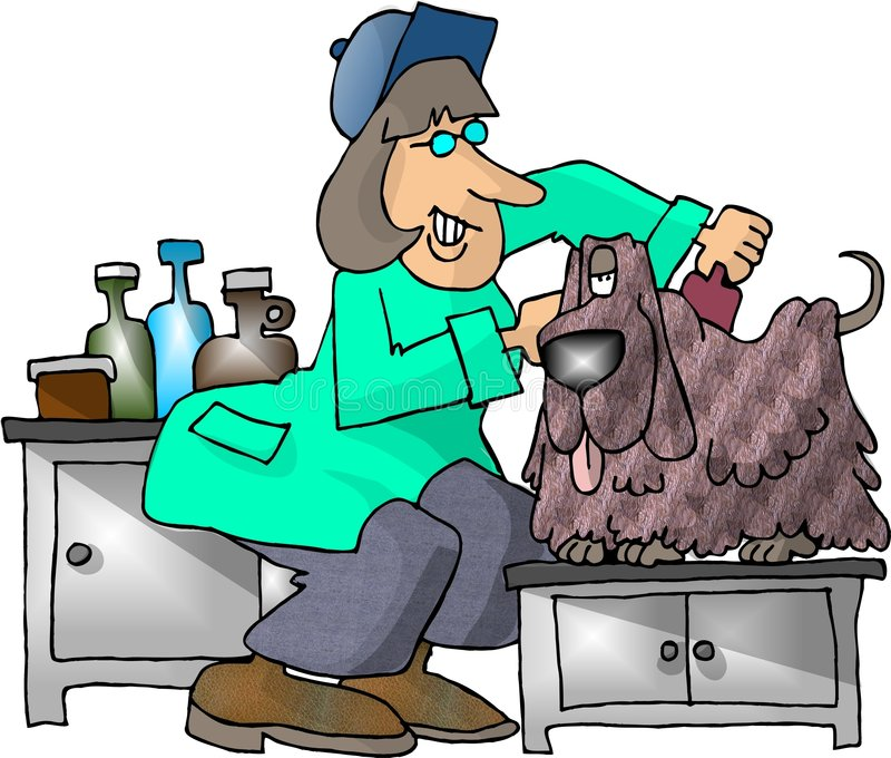 Download Cão Groomer ilustração stock. Ilustração de mulher, canine - 53494