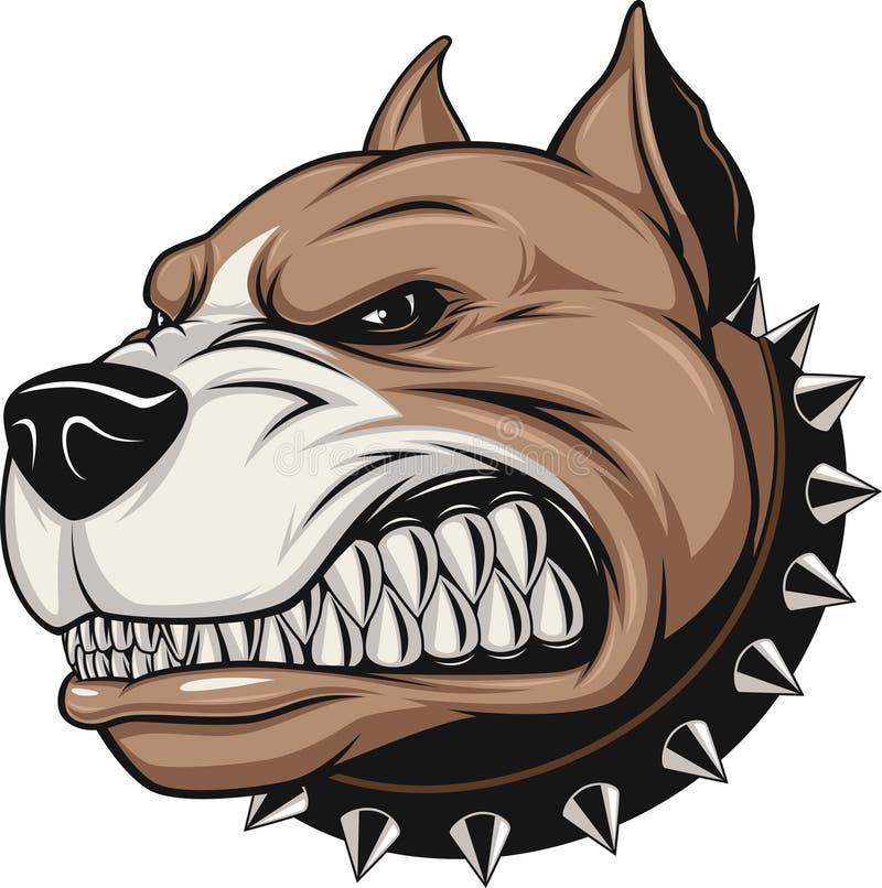 Cão irritado