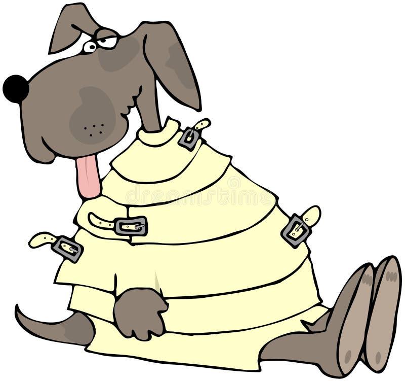 Cão louco ilustração do vetor