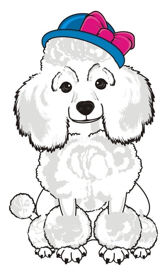 Cão no chapéu ilustração stock
