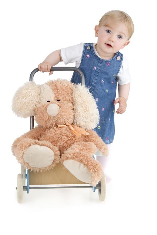 Cão plushy infantil fotografia de stock royalty free