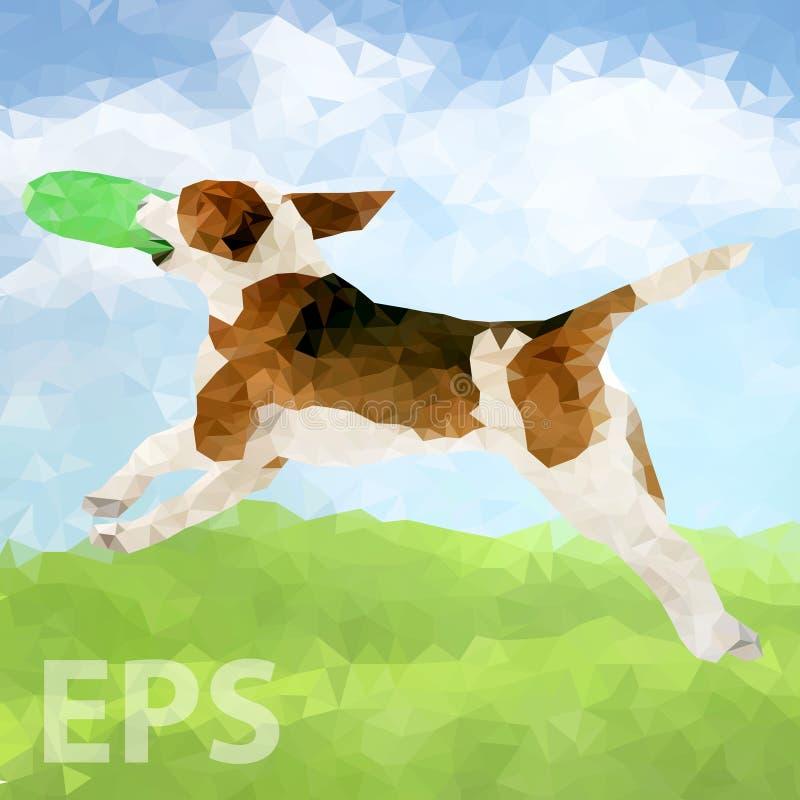 Cão poli Outdoors-02 [convertido] ilustração royalty free