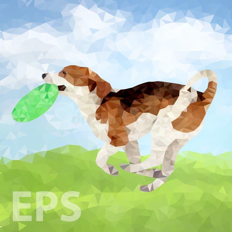Cão poli Outdoors-06 [convertido] ilustração royalty free