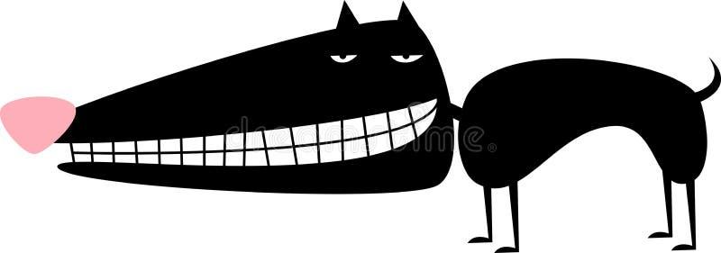 Cão preto ilustração royalty free