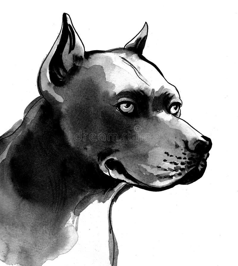 Cão preto ilustração do vetor