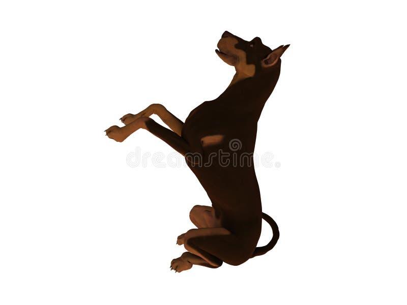 Cão que implora pela atenção ilustração do vetor