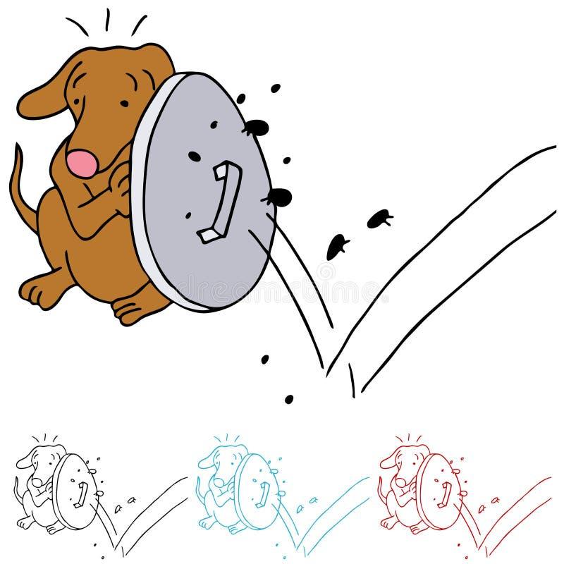 Cão que protege das pulga ilustração do vetor