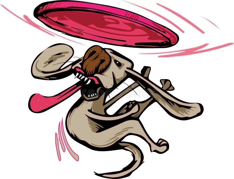 Cão que trava um frisbee fotografia de stock