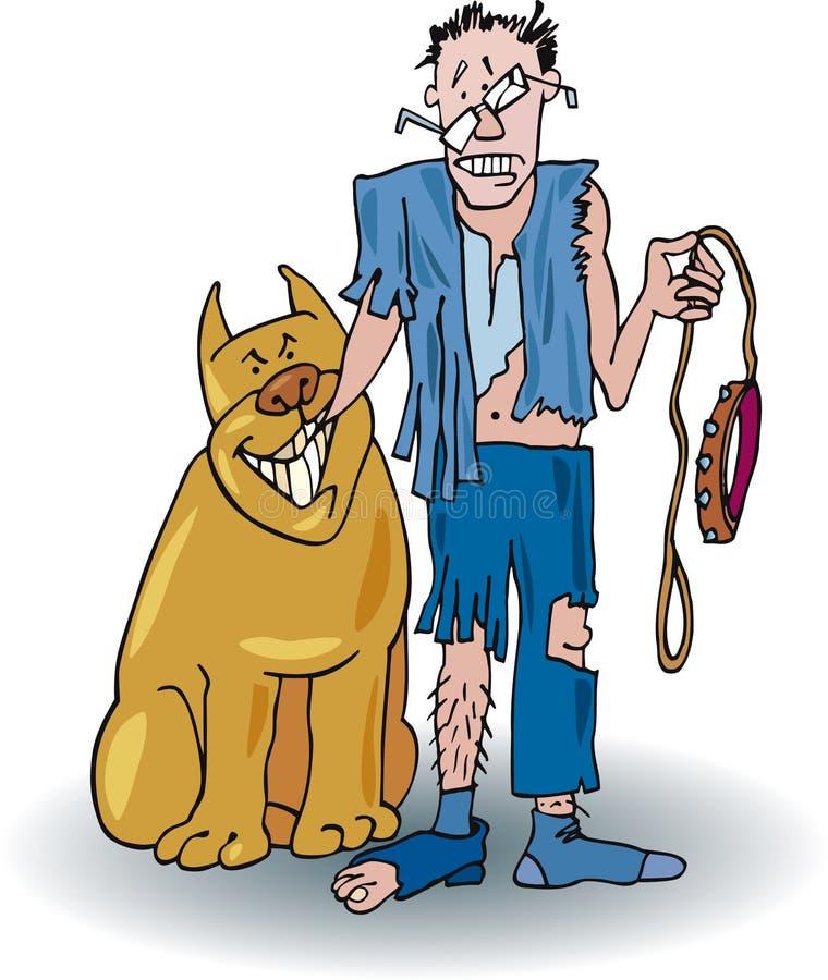 Cão ruim ilustração stock