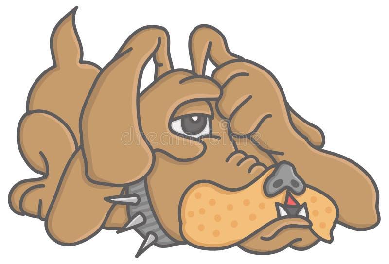 Cão só ilustração royalty free