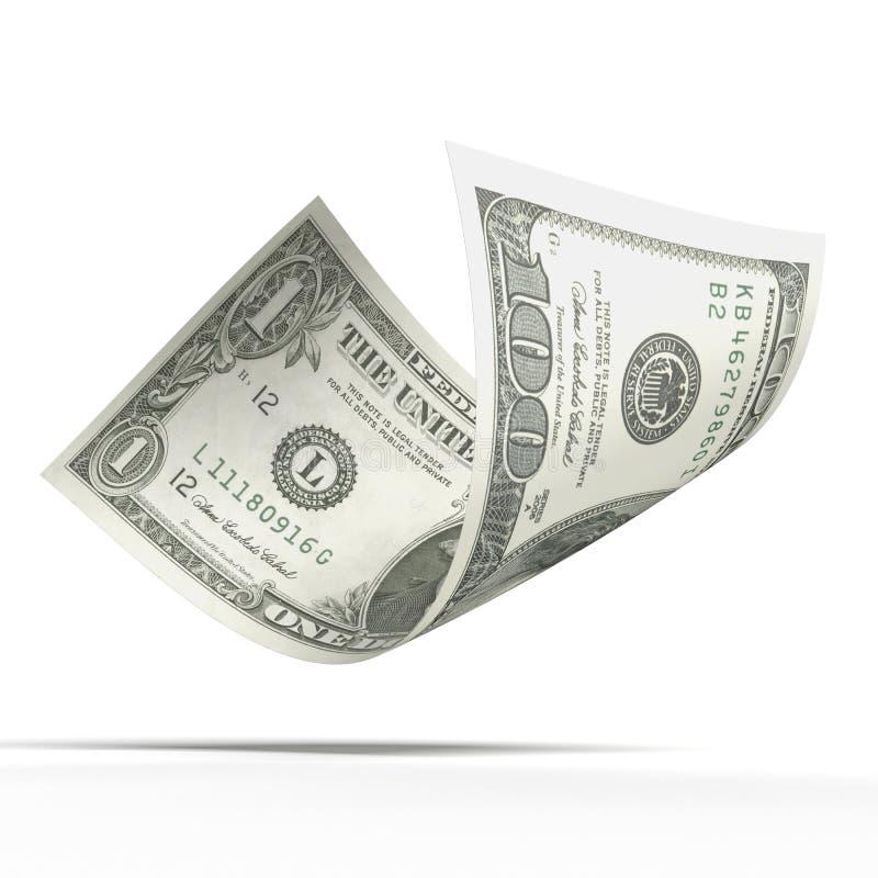 Cédula do dólar com valores diferentes imagens de stock