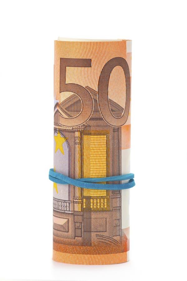 Cédula do euro cinqüênta imagens de stock royalty free