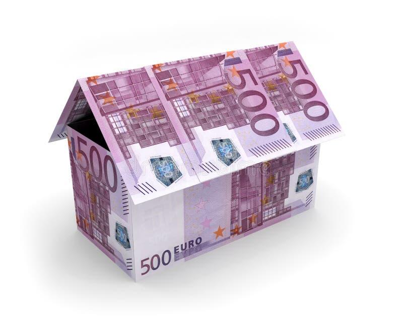 Cédulas 3D da casa dos Euros ilustração do vetor