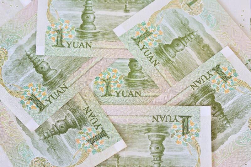 Cédulas de Yuan do chinês um (renminbi), para conceitos do dinheiro imagem de stock royalty free