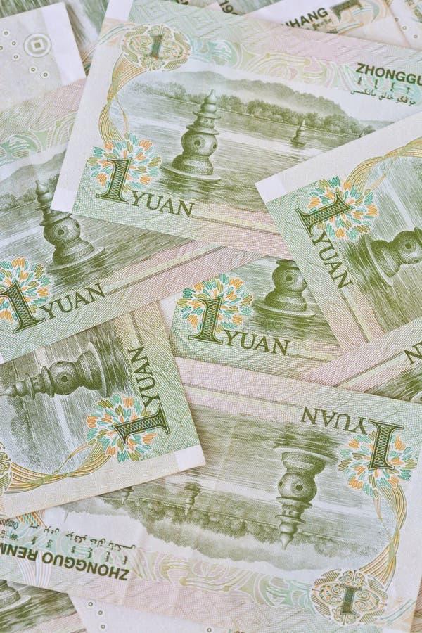 Cédulas de Yuan do chinês um (renminbi), para conceitos do dinheiro fotografia de stock royalty free