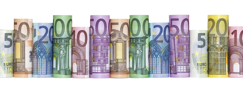 Cédulas do dinheiro do Euro imagem de stock