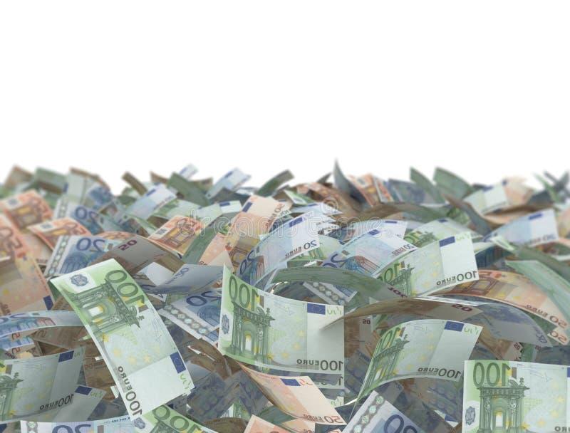 Cédulas do euro da mistura ilustração royalty free