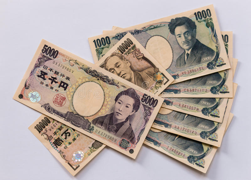 Cédulas do iene japonês imagem de stock