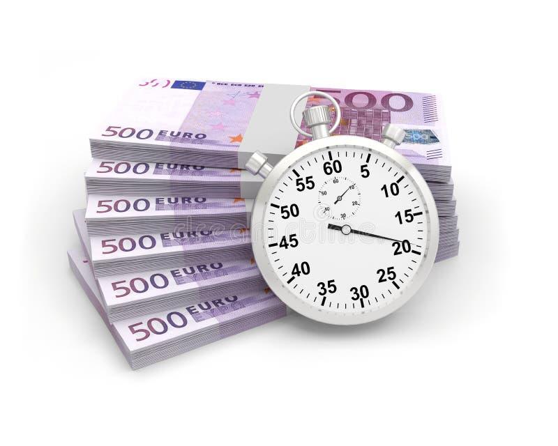 Cédulas do tempo do cronômetro ilustração stock
