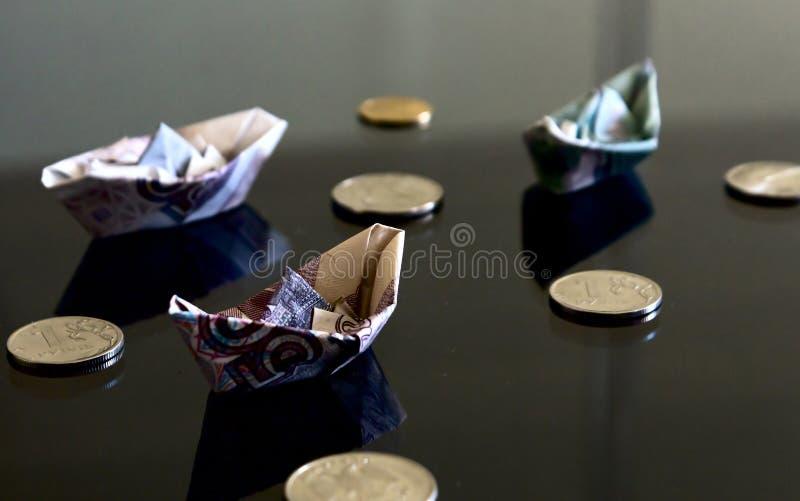 Cédulas e moedas foto de stock royalty free