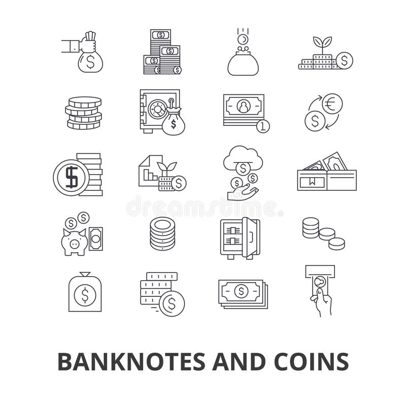 Cédulas e moedas ilustração do vetor