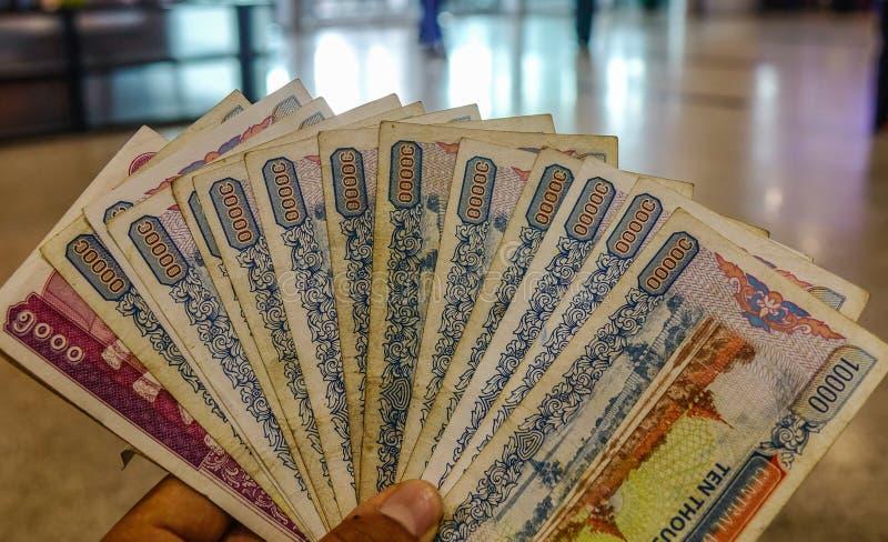 Cédulas milímetro de Myanmar, MMR, kyat foto de stock royalty free