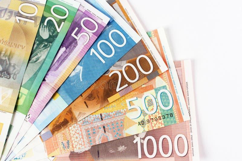 Cédulas sérvios do dinar foto de stock royalty free