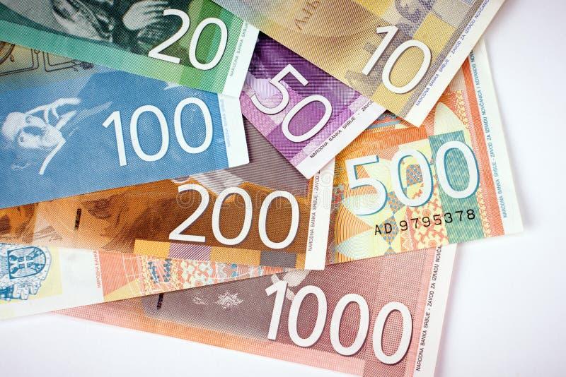 Cédulas sérvios do dinar imagens de stock