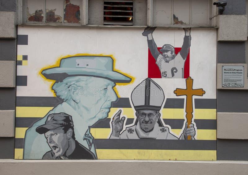 ` Célèbre de contreseings de ` par David McShane, sur l'extérieur des contreseings sales, Philadelphie photo stock