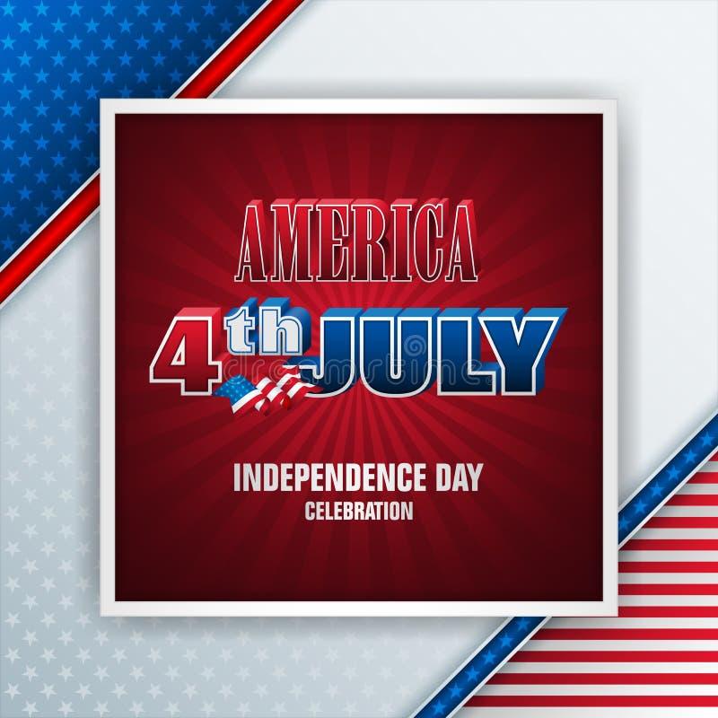 Célébrant le 4ème juillet, U S Fond de grunge de l'indépendance Day illustration stock