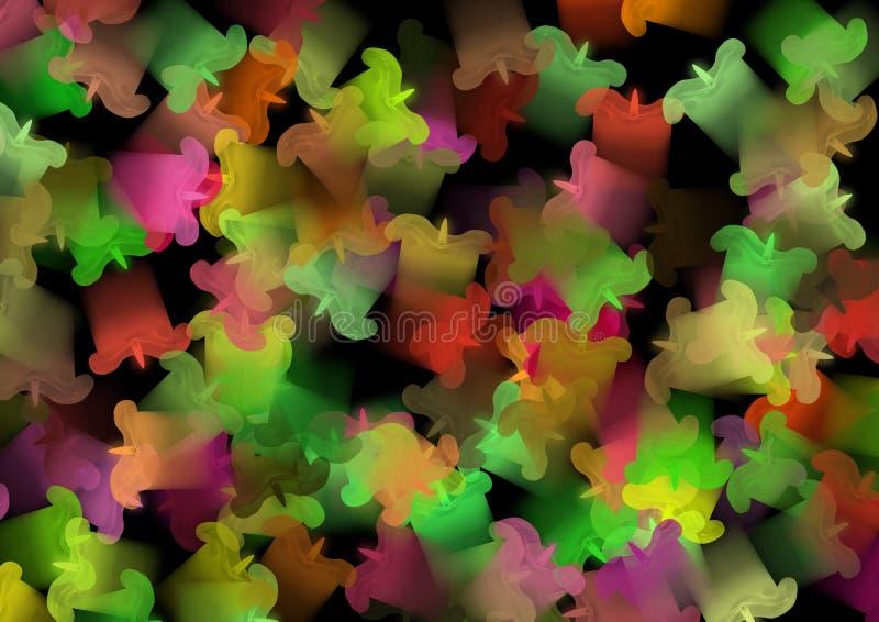Célébration colorée de bougies photographie stock