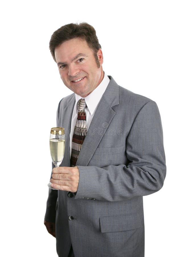 Célébration d'homme d'affaires photos stock