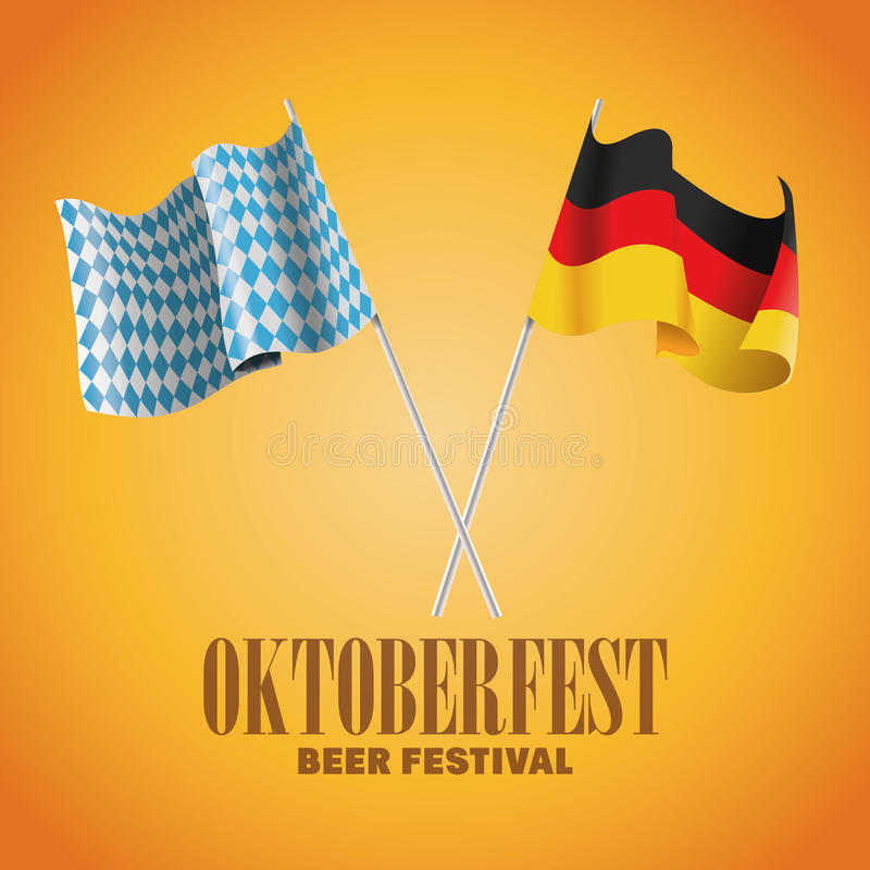 Célébration d'Oktoberfest de conception de l'Allemagne illustration stock