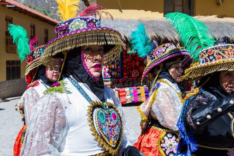 Célébration dans Ollantaytambo Pérou photo libre de droits