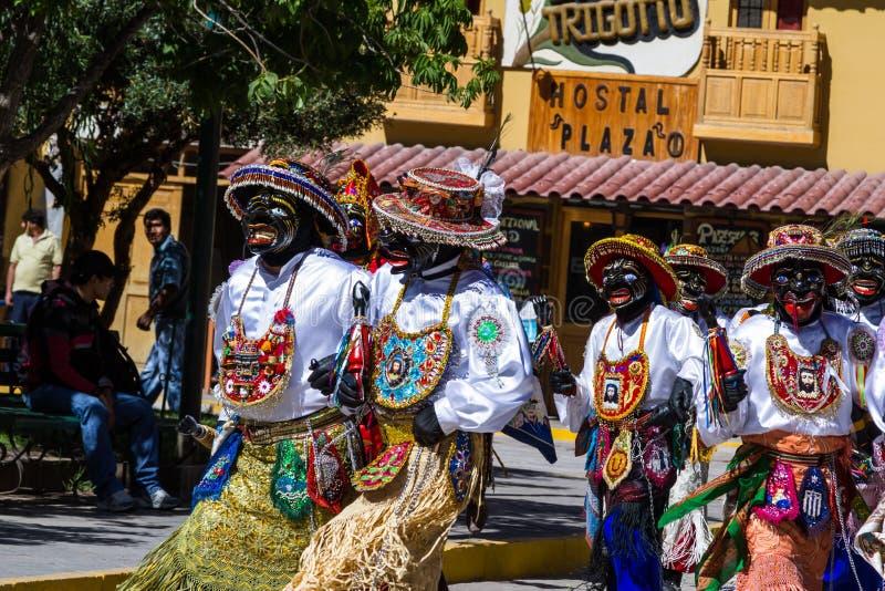 Célébration dans Ollantaytambo Pérou image libre de droits