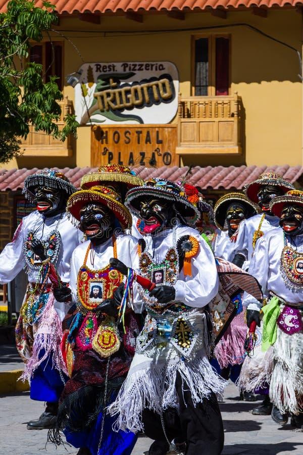 Célébration dans Ollantaytambo Pérou photos stock
