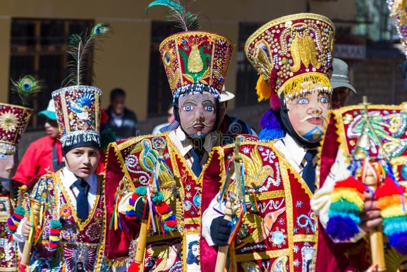 Célébration dans Ollantaytambo Pérou image stock