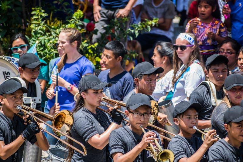 célébration de 197 ans de l'indépendance du Guatemala photo stock