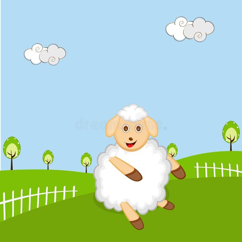 Célébration de bonne année avec un mouton illustration stock