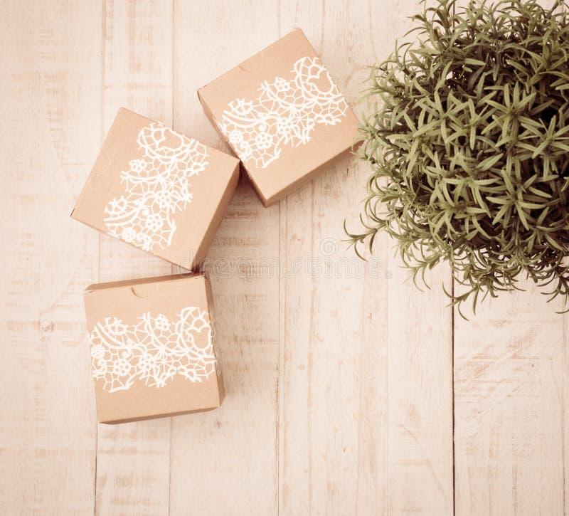 Célébration de cadeau et de nourriture de Noël image stock