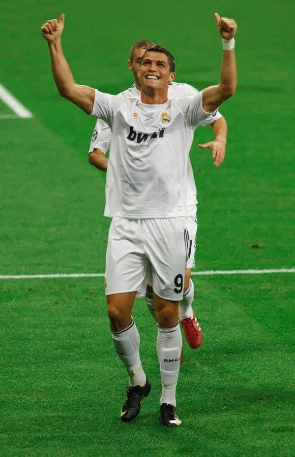 Célébration de but de Ronaldo images libres de droits