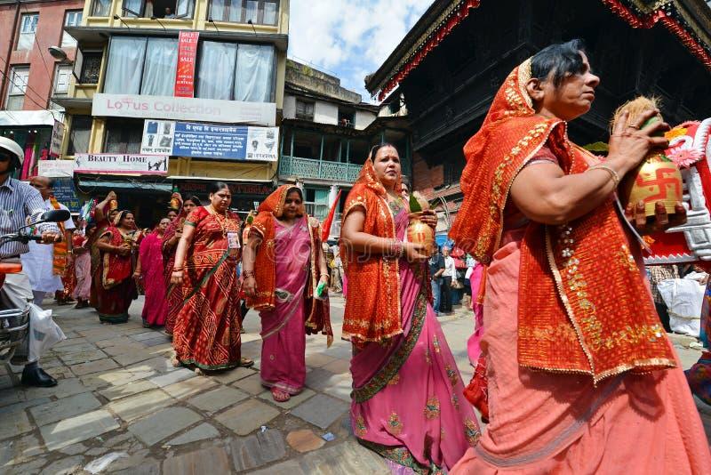 Célébration de festival de Dasain au Népal photographie stock libre de droits