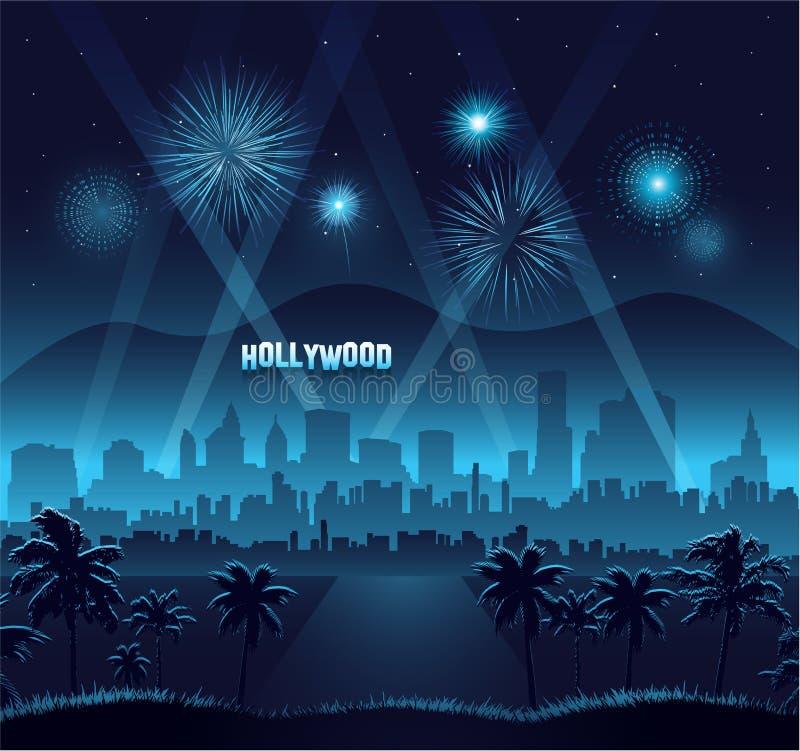 Célébration de fond de première de film de Hollywood illustration libre de droits