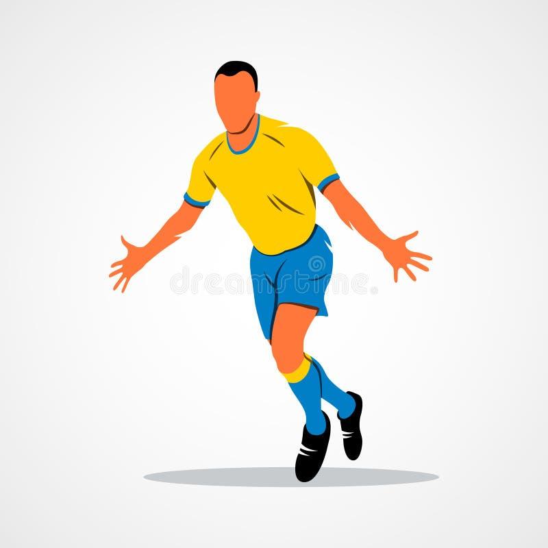 Célébration de footballeur illustration de vecteur