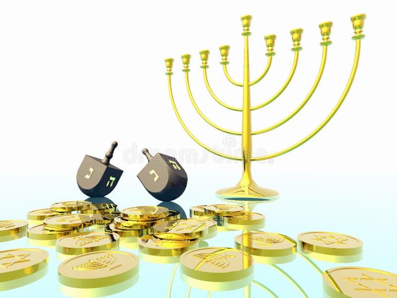 Célébration de Hanukkah. photos stock