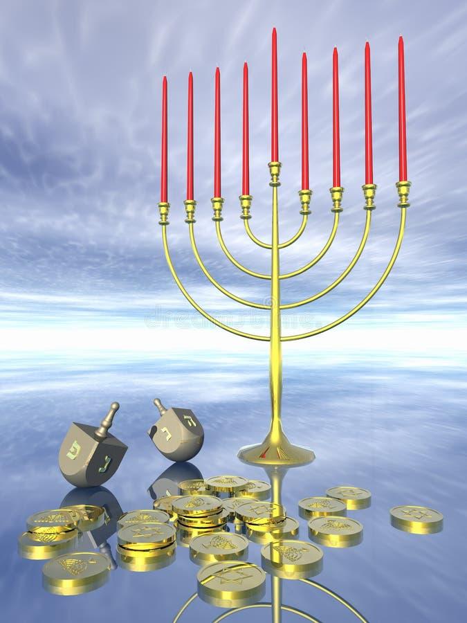 Célébration de Hanukkah. illustration stock