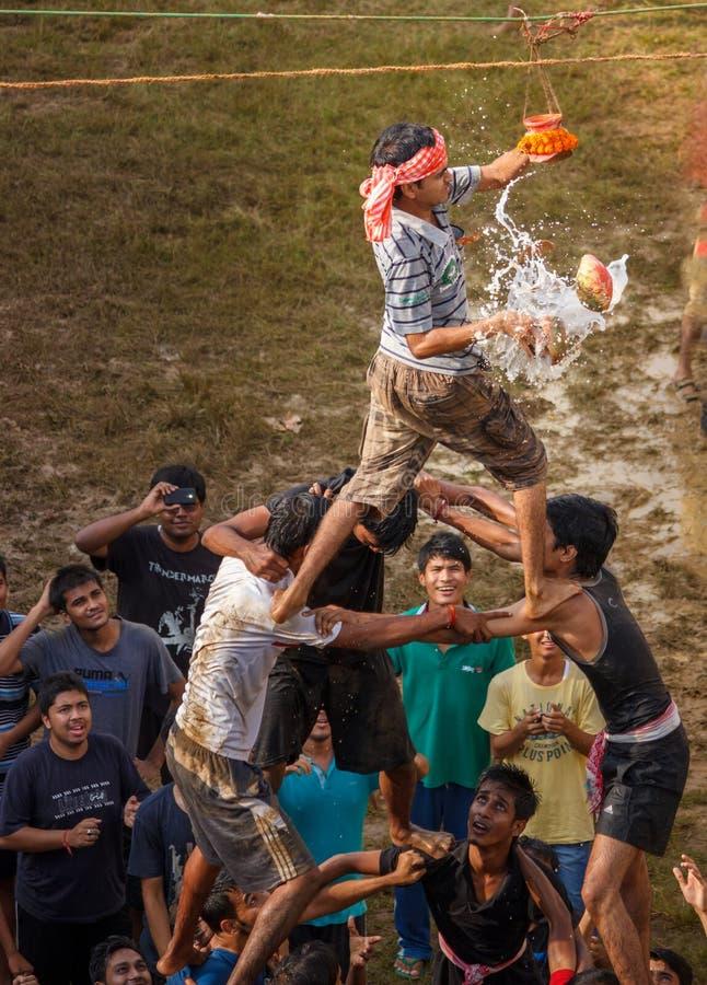 Célébration de Janmashtami, matki fod images stock