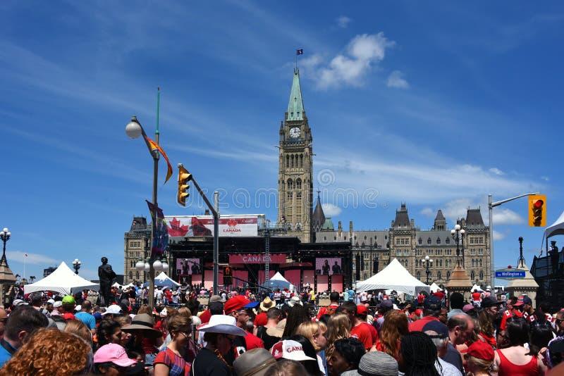 Célébration de jour du Canada à Ottawa image libre de droits