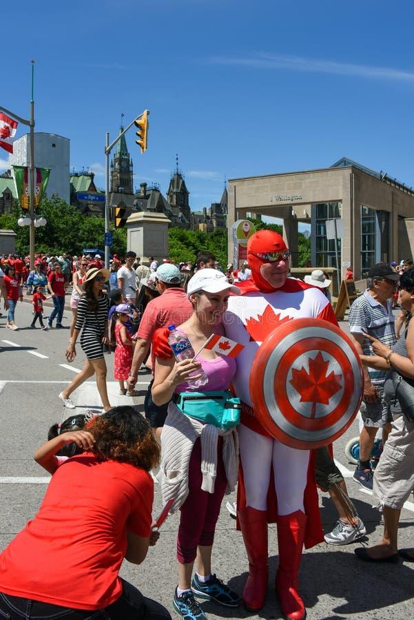 Célébration de jour du Canada à Ottawa photo libre de droits